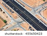 Underpass in Scottsdale, Arizona from above along the Loop 101 freeway - stock photo
