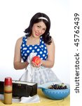 Vintage Housewife - stock photo