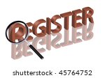 register here sign in here register button register icon in red isolated on white - stock photo