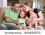 Parents and children are enjoying being together - stock photo