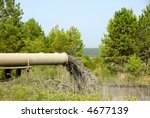 Industrial Waste Water - stock photo