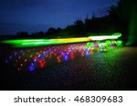 Lighting skateboard in motion demonstrate speed and long exposure. Modern funny toy. - stock photo