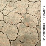 Cracked soil - pattern / background - stock photo