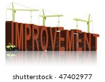making improvement make things better change for the best and create progress improve red on white evolution evolve - stock photo