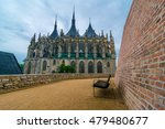 Church of Saint Barbara in Kutna Hora, Czech Republic. UNESCO - One of the most famous Gothic churches in central Europe, UNESCO World Heritage Site.  - stock photo