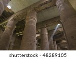 """The antique columns of the temple in """"Dendera"""" in Egypt - stock photo"""