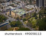 Australian Museum from above in Sydney, New South Wales Australia. Tilt shift. - stock photo