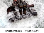 Dredging head high contrast - stock photo