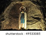 Virgin Mary in San Clemente church in Rome - Italy - stock photo