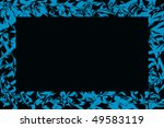 blue  frame,abstract background - stock photo