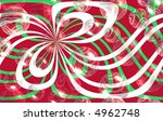 red, green, and white abstract with bubbles - stock photo
