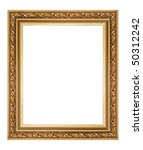 classy golden frame - stock photo