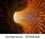 hot binary stream - stock photo