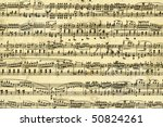 Old music sheet page - art background - stock photo