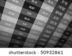 Business data shown on a computer screen - stock photo