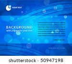 Abstract blue horizontal business background - in letter format - stock vector