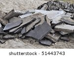Pile of rubble - stock photo