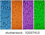 multicolor water drops - stock photo