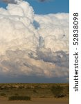 A massive cumulus cloud formation in the kalahari desert, South Africa - stock photo