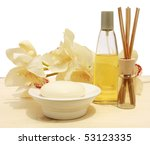 Soap and essence orchid - stock photo