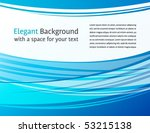 Horizontal blue and white background - great for print and web - presentation, document design, brochure, letterhead, banner, website - stock vector