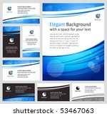 Abstract blue business backgrounds and cards - templates collection - stock vector