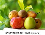 Colored fruits. - stock photo