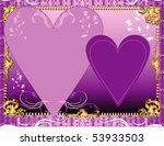 Vector Illustration. A template background for greeting card or invitation. May add photo and/or text. - stock vector