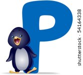 P for Penguin - Vector - stock vector