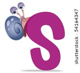 S for Snail - Vector - stock vector