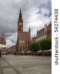 City hall on the old town in Gdansk - Poland - stock photo