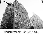 New York City Manhattan buildings  - stock photo