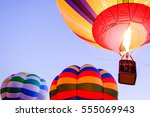 hot air balloon in front of sky - stock photo