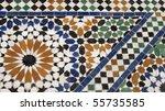 moroccan ceramic - stock photo