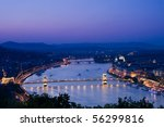 Night lights in Budapest-Hungary - stock photo