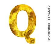 Gold letter - Q - stock photo