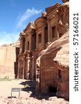 Petra in Jordan, Nabateean capital - stock photo