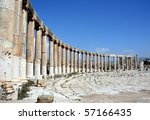 Jerash, ancient Roman city - stock photo