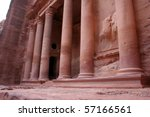 Petra in Jordan - stock photo