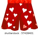 Boxer Shorts Icon Vector for Valentine's day or love. - stock vector