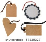 collection of tags - stock photo