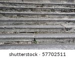 Closeup: Set of old stone stairs - stock photo