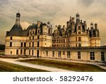 Chambord castle - artistic styled picture - stock photo