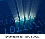 binary code at new 2011 year eve - stock photo