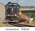 Freight train. - stock photo