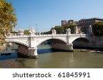 Rome bridges - stock photo