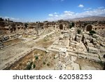 Balbek tempel in Lebanon - stock photo
