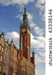 City hall of old town in Gdansk - Poland - stock photo