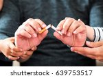 Concept For Quitting Smoking With Support Of Family - stock photo