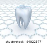 Dental abstract 3D background - stock photo